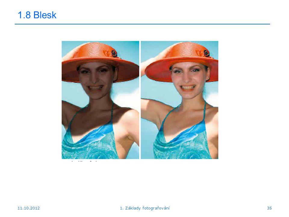 1. Základy fotografování35 1.8 Blesk