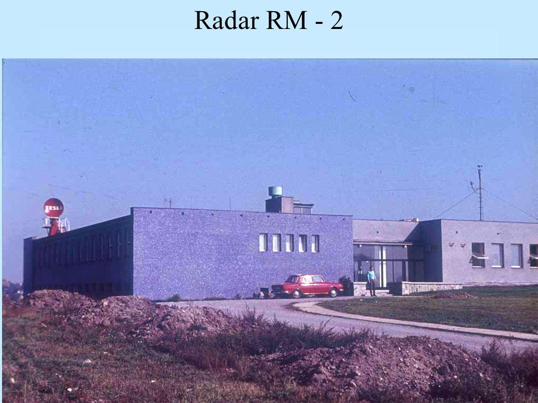 Datový tok meteorologického radiolokátoru min. 100 vzorků odraženého výkonu na 1 běh radarového impulzu; 1 vzorek: min. 4, lépe 8 bitů informace o odr