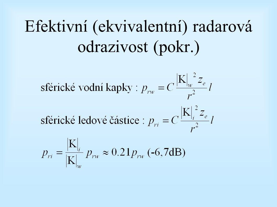Efektivní (ekvivalentní) radarová odrazivost (pokr.)