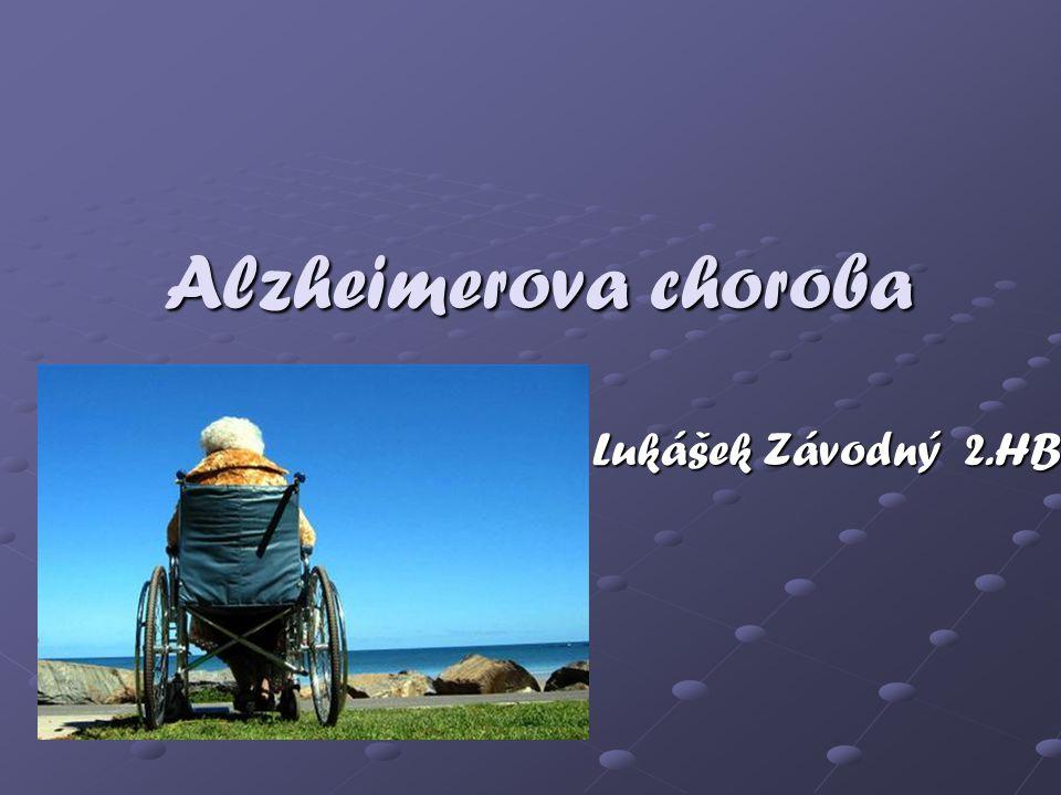 Alzheimerova choroba Lukášek Závodný 2.HB