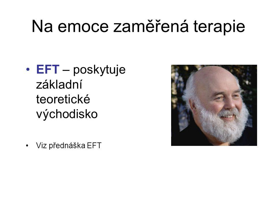 Na emoce zaměřená terapie EFT – poskytuje základní teoretické východisko Viz přednáška EFT