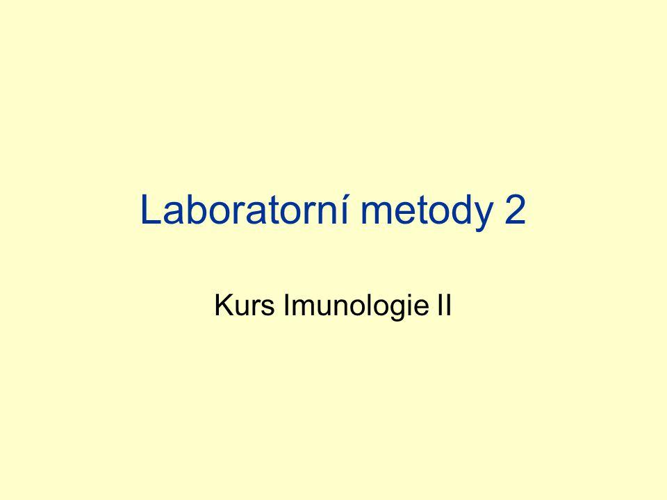 Laboratorní metody 2 Kurs Imunologie II