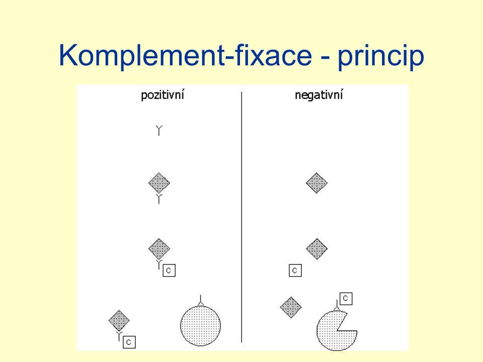 Komplement-fixace - princip