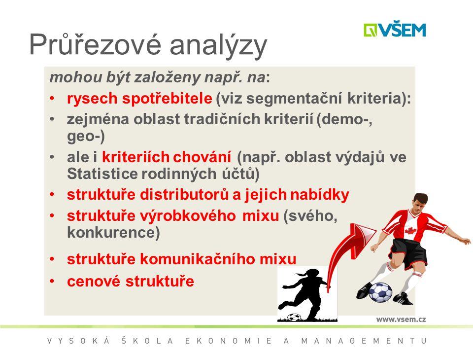 Průřezové analýzy mohou být založeny např.