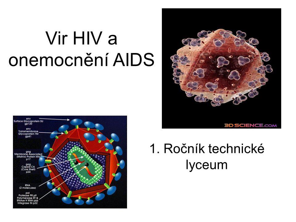 Vir HIV a onemocnění AIDS 1. Ročník technické lyceum