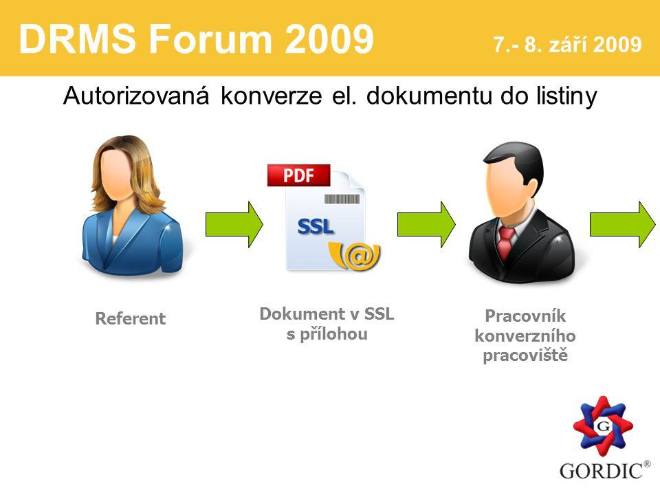 DRMS Forum 2009 7.- 8. září 2009 5 Autorizovaná konverze el.