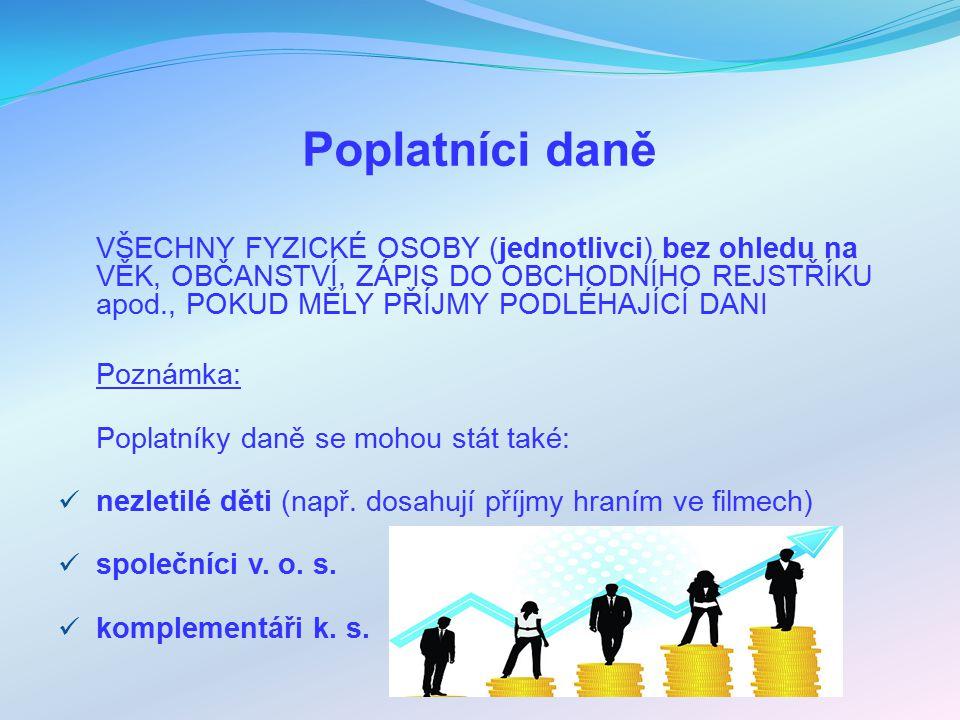 Příjmy z kapitálového majetku DVA REŽIMY ZDANĚNÍ např.