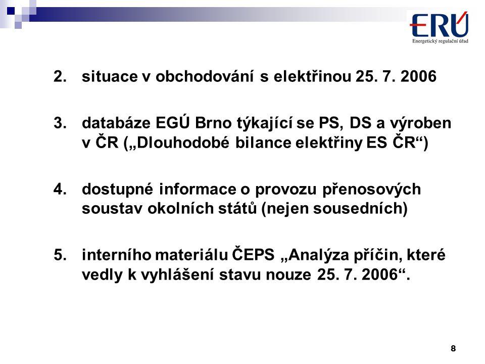 8 2.situace v obchodování s elektřinou 25. 7.