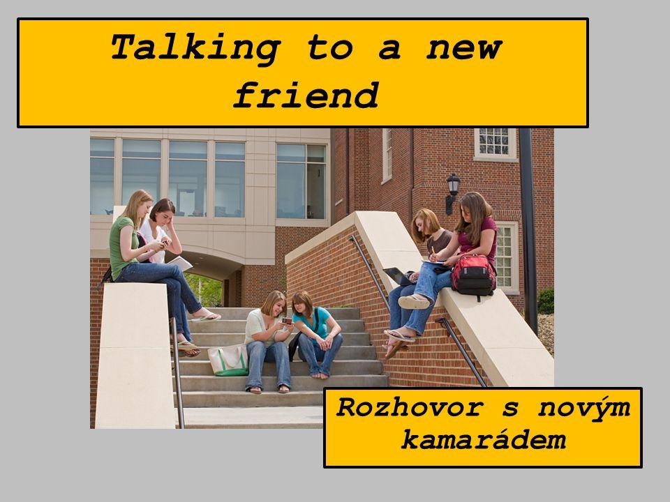 Talking to a new friend Rozhovor s novým kamarádem