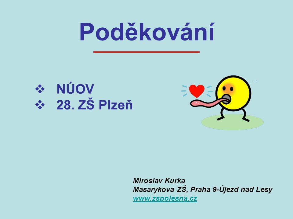 Poděkování  NÚOV  28.