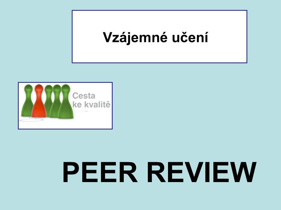 Vzájemné učení PEER REVIEW