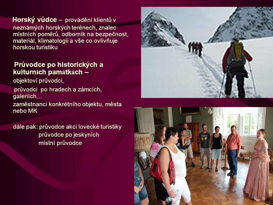 Průvodce městem samostatná skupina průvodců zaměstnanci magistrátů, MÚ, infocenter.