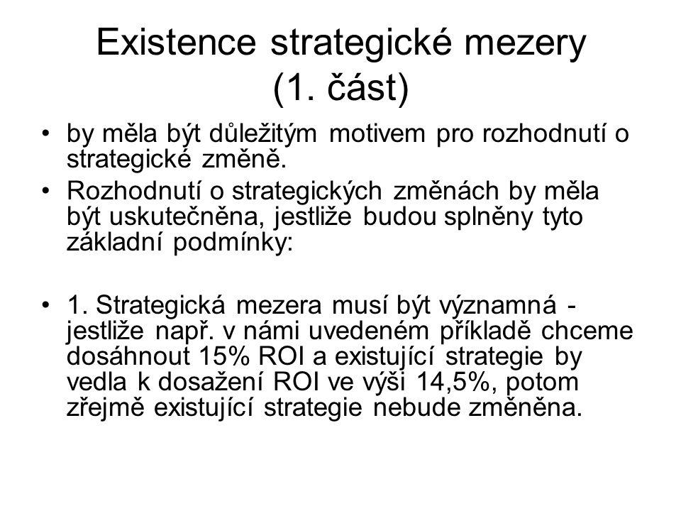Existence strategické mezery (1.
