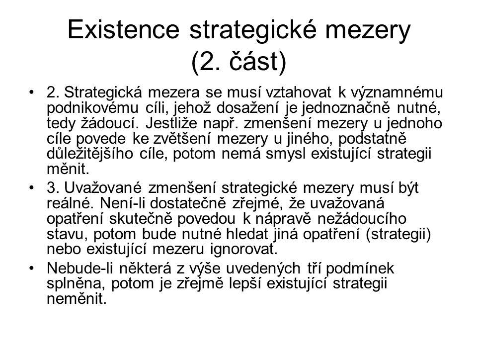 Existence strategické mezery (2.část) 2.