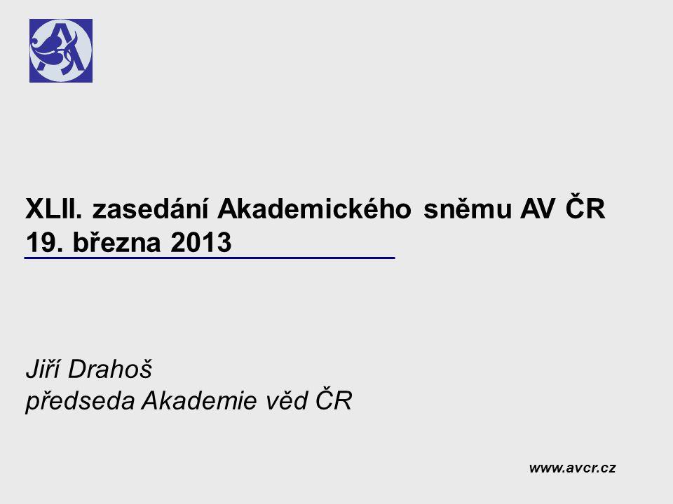 Hlavní body  Úvod  Zamyšlení nad situací AV ČR v uplynulých čtyřech letech  Zpráva o činnosti Akademické rady v období od XLI.