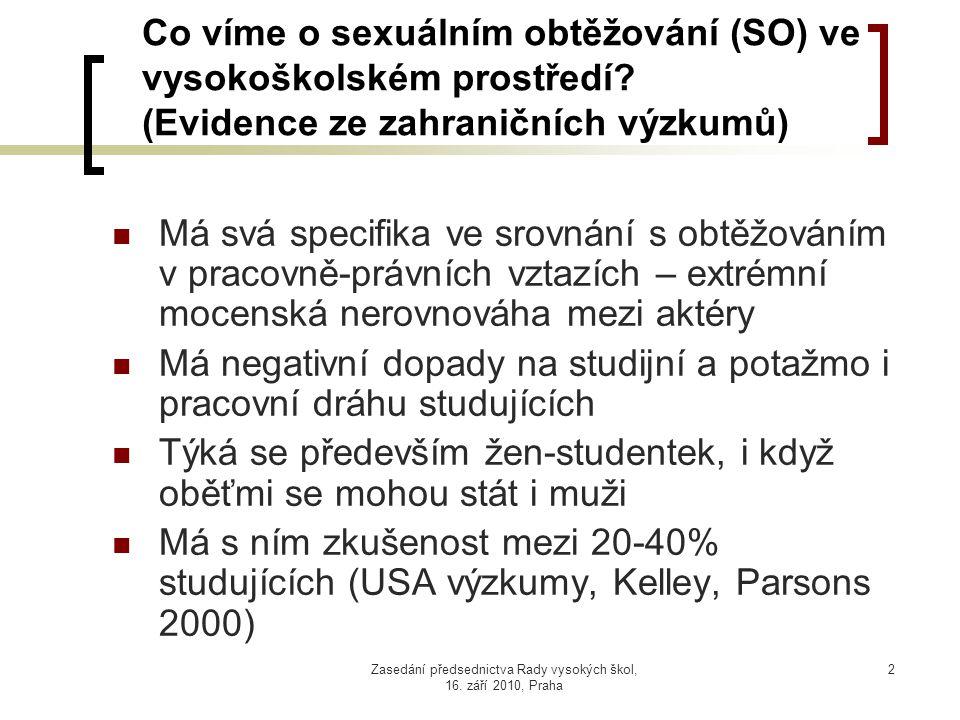 Zasedání předsednictva Rady vysokých škol, 16.