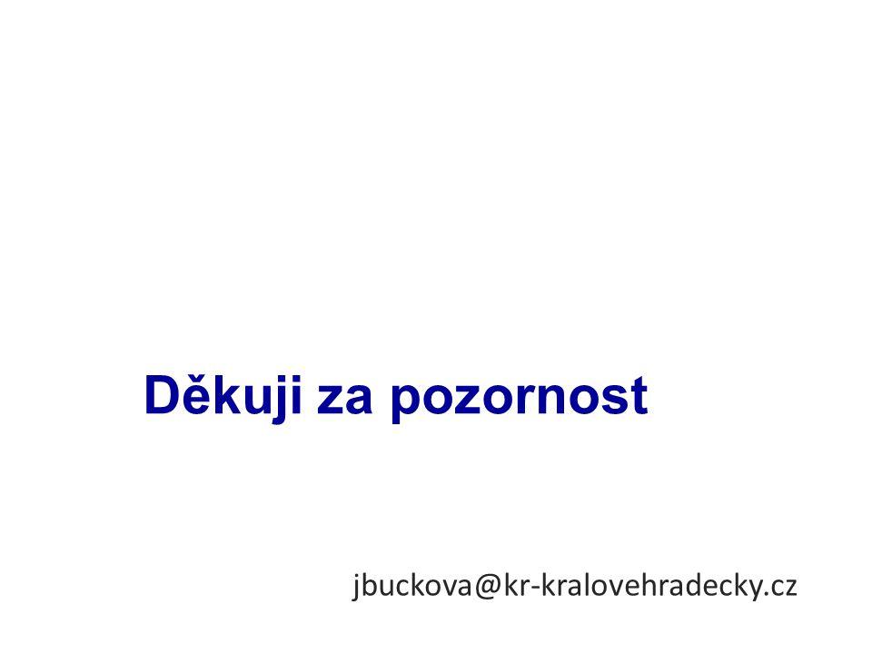 jbuckova@kr-kralovehradecky.cz Děkuji za pozornost