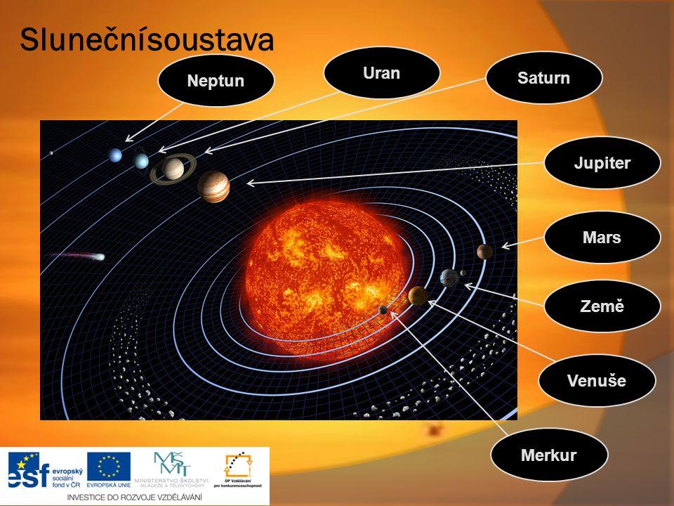 Saturn Jupiter Mars Země Venuše Merkur Uran Sluneční soustava Neptun