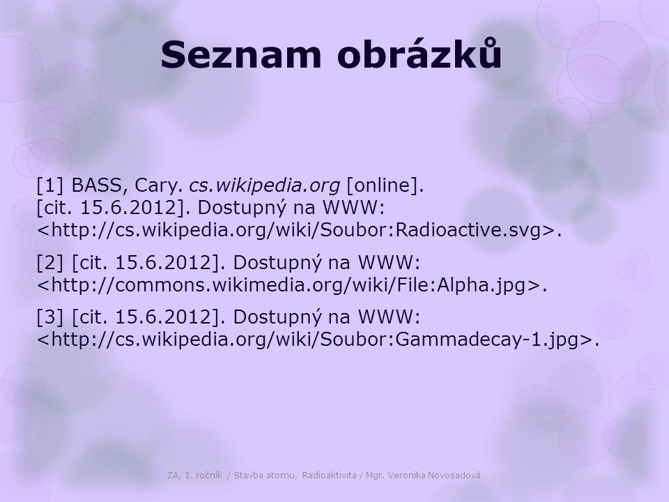 Seznam obrázků [1] BASS, Cary. cs.wikipedia.org [online]. [cit. 15.6.2012]. Dostupný na WWW:. [2] [cit. 15.6.2012]. Dostupný na WWW:. [3] [cit. 15.6.2