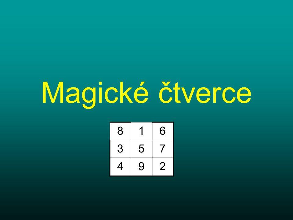 Magické čtverce 816 357 492