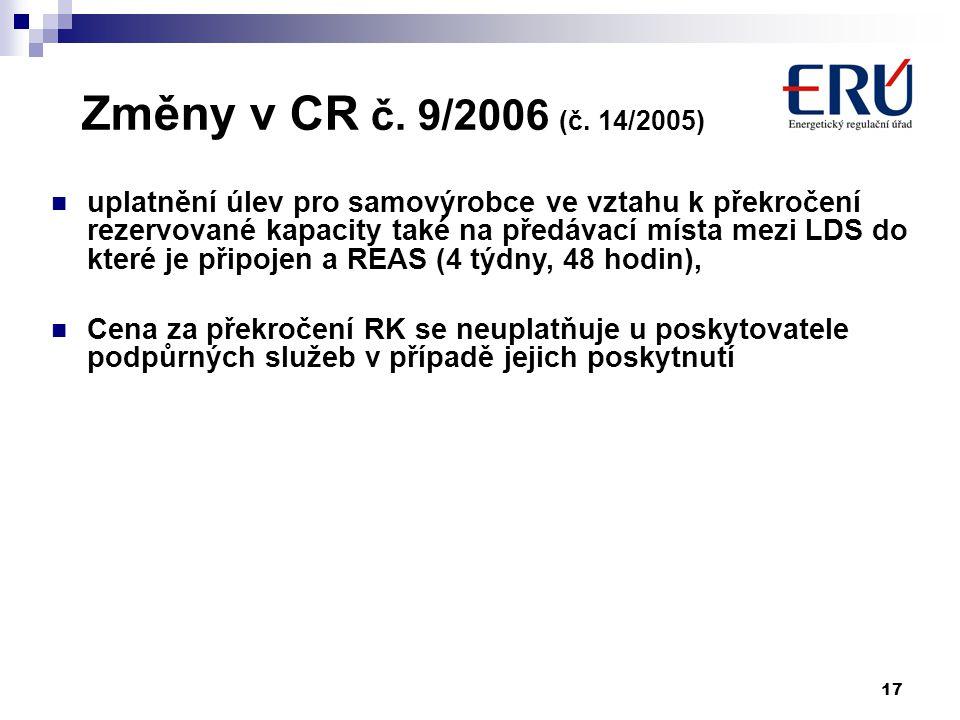 17 Změny v CR č. 9/2006 (č.