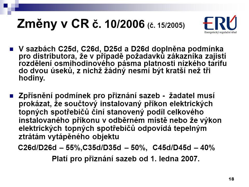18 Změny v CR č. 10/2006 (č.