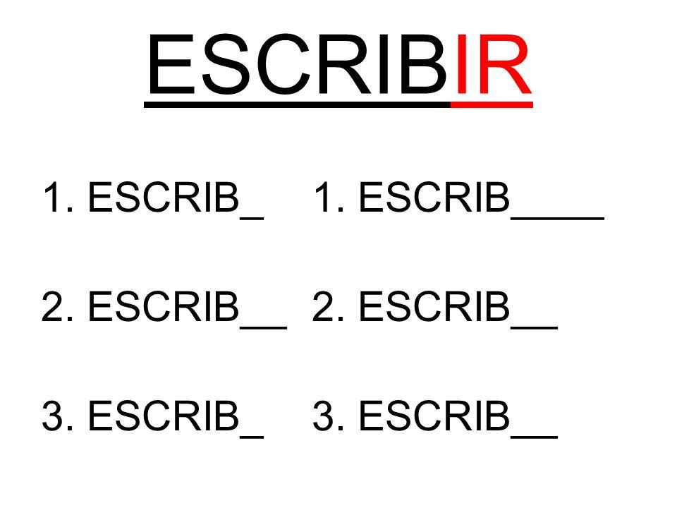 ESCRIBIR 1. ESCRIB_1. ESCRIB____2. ESCRIB__ 3. ESCRIB_3. ESCRIB__