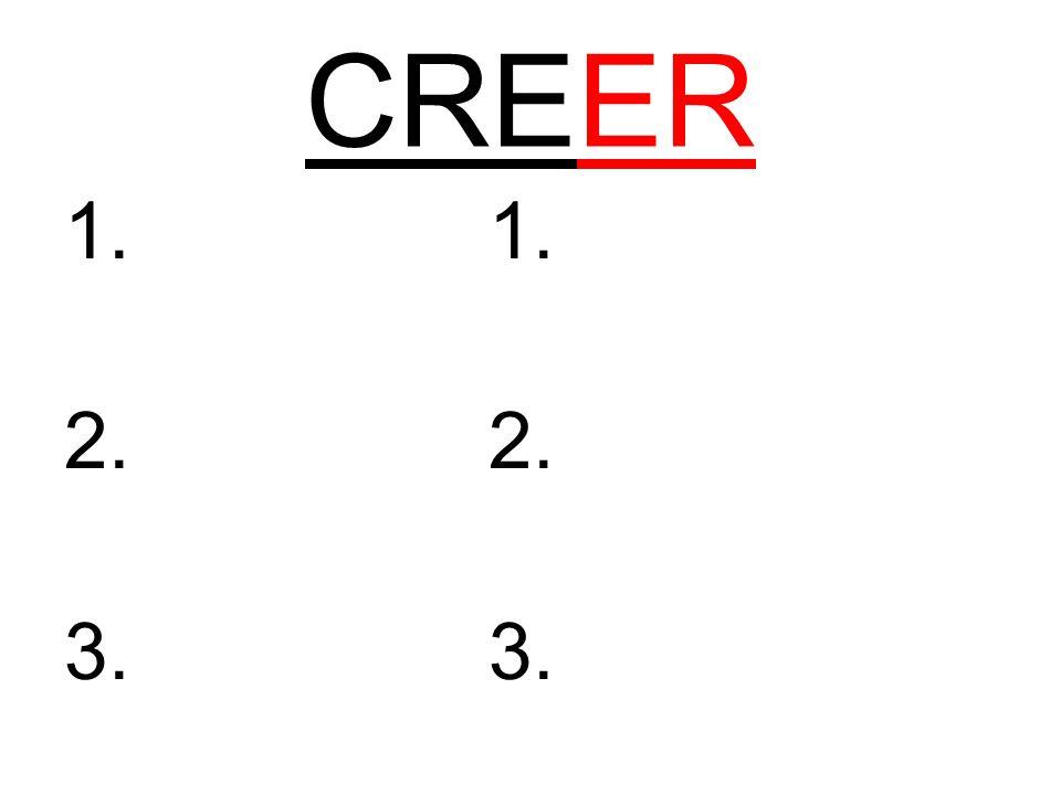 CREER 1. 2. 3.