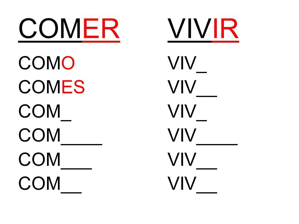 COMERVIVIR COMOVIV_ COMESVIV__ COM_VIV_ COM____VIV____ COM___VIV__ COM__VIV__