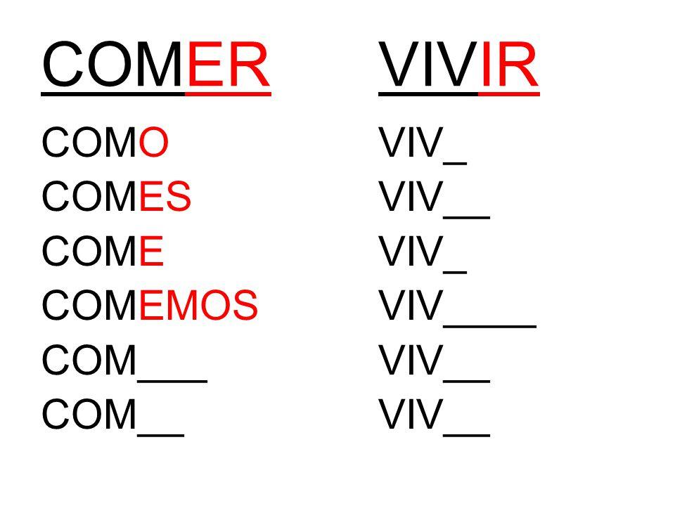 COMERVIVIR COMOVIV_ COMESVIV__ COMEVIV_ COMEMOSVIV____ COM___VIV__ COM__VIV__