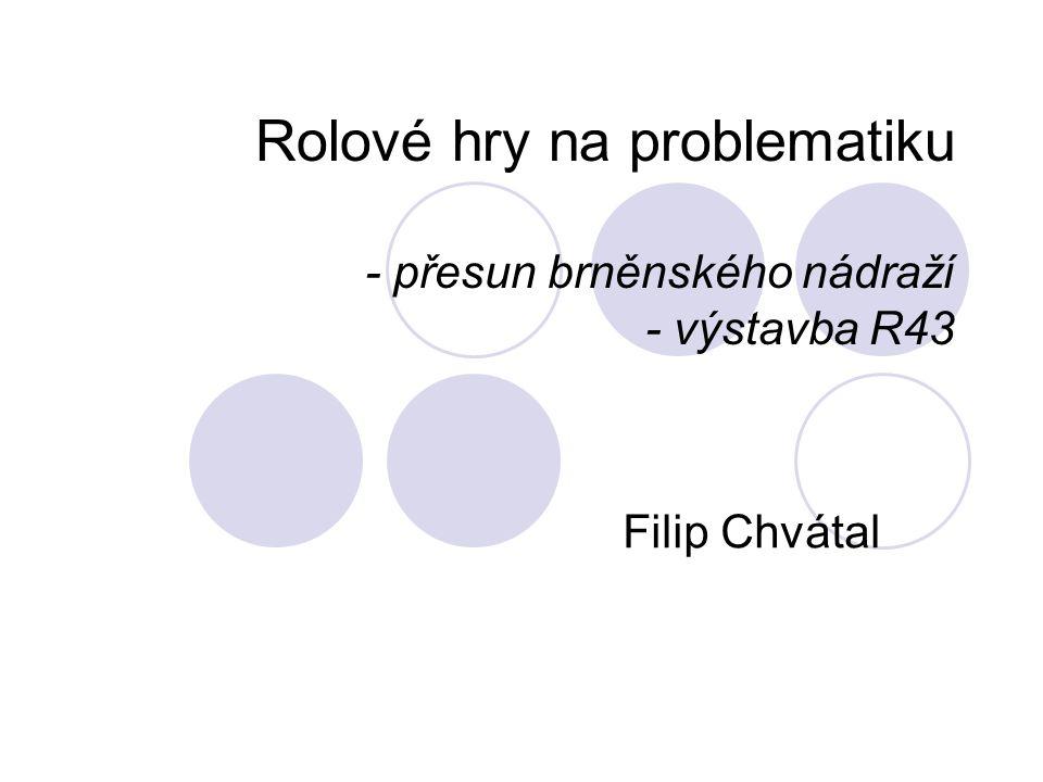 Rolové hry na problematiku - přesun brněnského nádraží - výstavba R43 Filip Chvátal