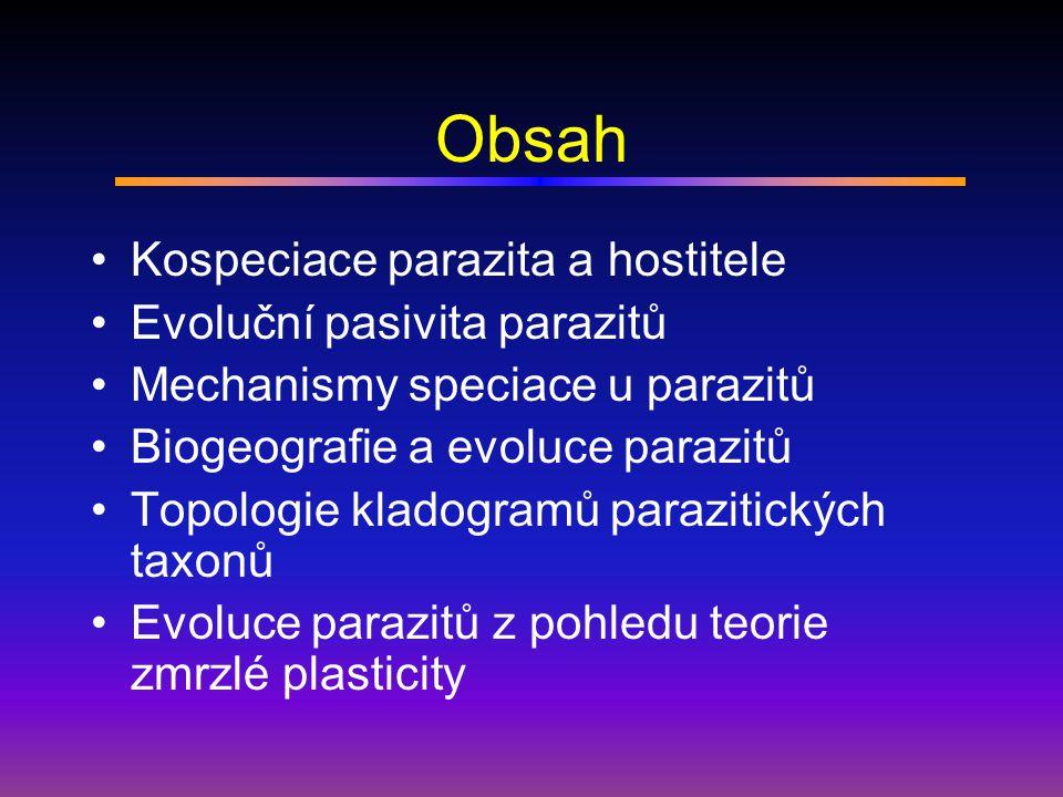 Problémy se studiem kongruence Chybně popsané druhy (právě na základě specifity) Vliv druhu hostitele na fenotyp parazita – roztoči rodu Uninicolides, U.