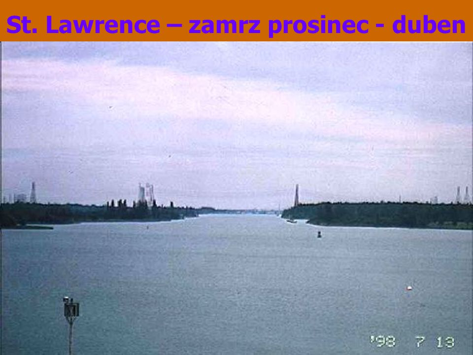 St. Lawrence – zamrz prosinec - duben
