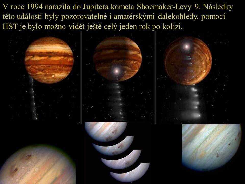 V roce 1994 narazila do Jupitera kometa Shoemaker-Levy 9. Následky této události byly pozorovatelné i amatérskými dalekohledy, pomocí HST je bylo možn