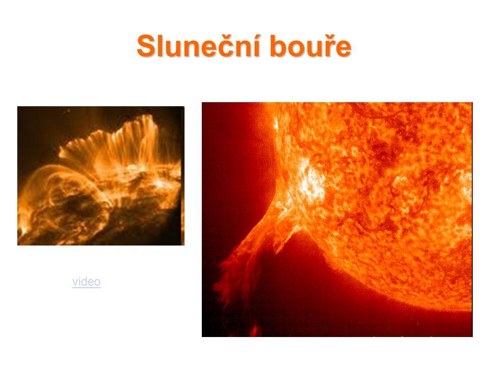 Sluneční bouře video