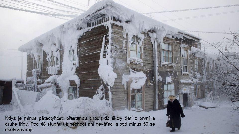 V zimních dnech jsou normální – 40°C.