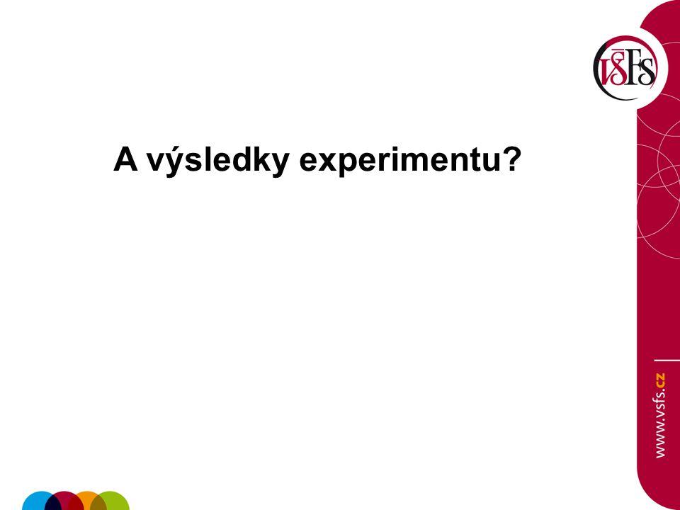A výsledky experimentu