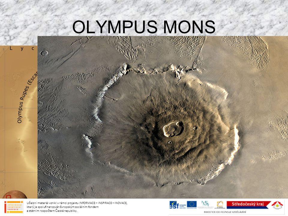 OLYMPUS MONS Učební materiál vznikl v rámci projektu INFORMACE – INSPIRACE – INOVACE, který je spolufinancován Evropským sociálním fondem a státním ro