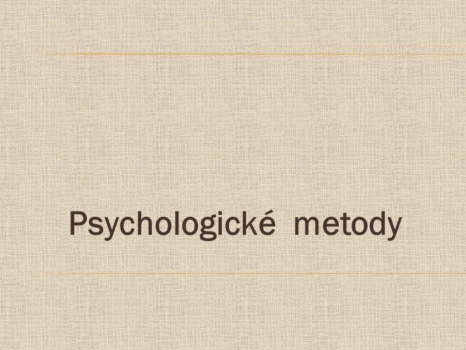 Psychologické metody
