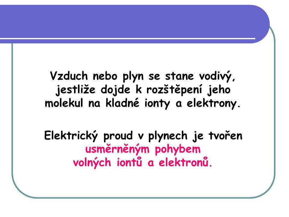 Blesk je velmi krátce trvající elektrický proud, např.