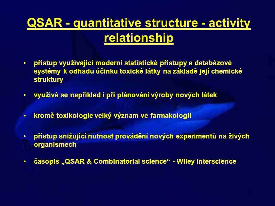 6 přístup využívající moderní statistické přístupy a databázové systémy k odhadu účinku toxické látky na základě její chemické struktury QSAR - quanti