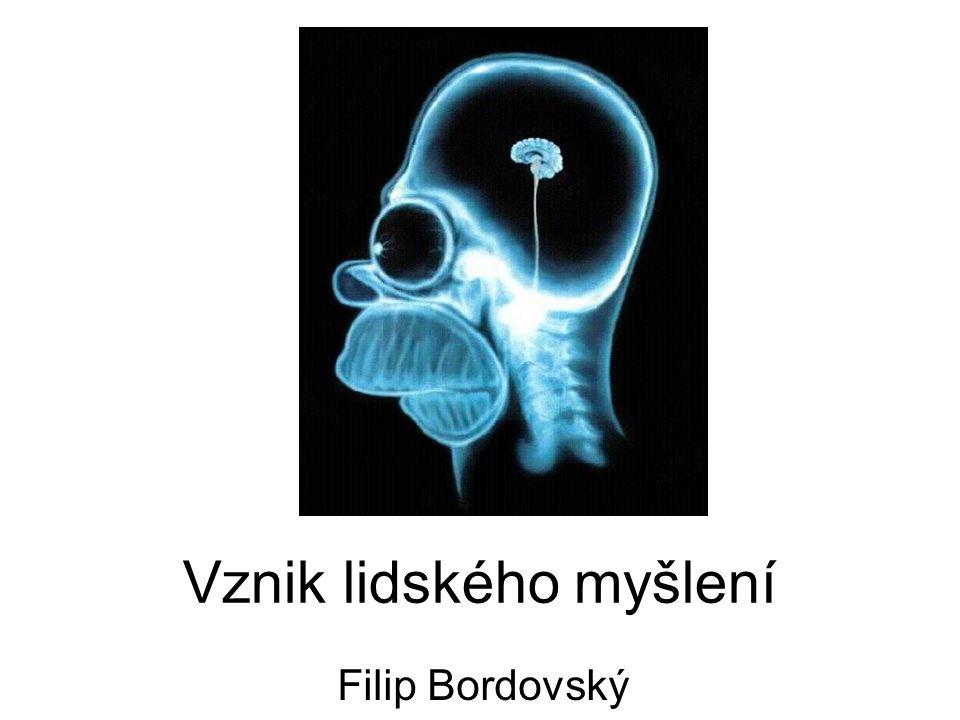 Vznik lidského myšlení Filip Bordovský