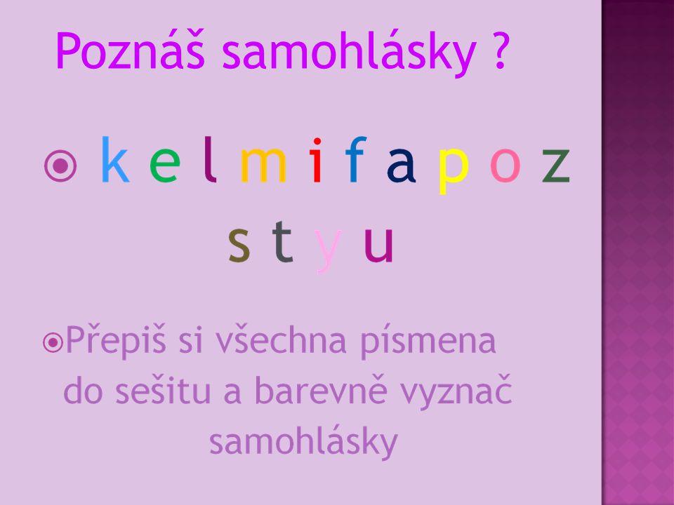 Poznáš samohlásky