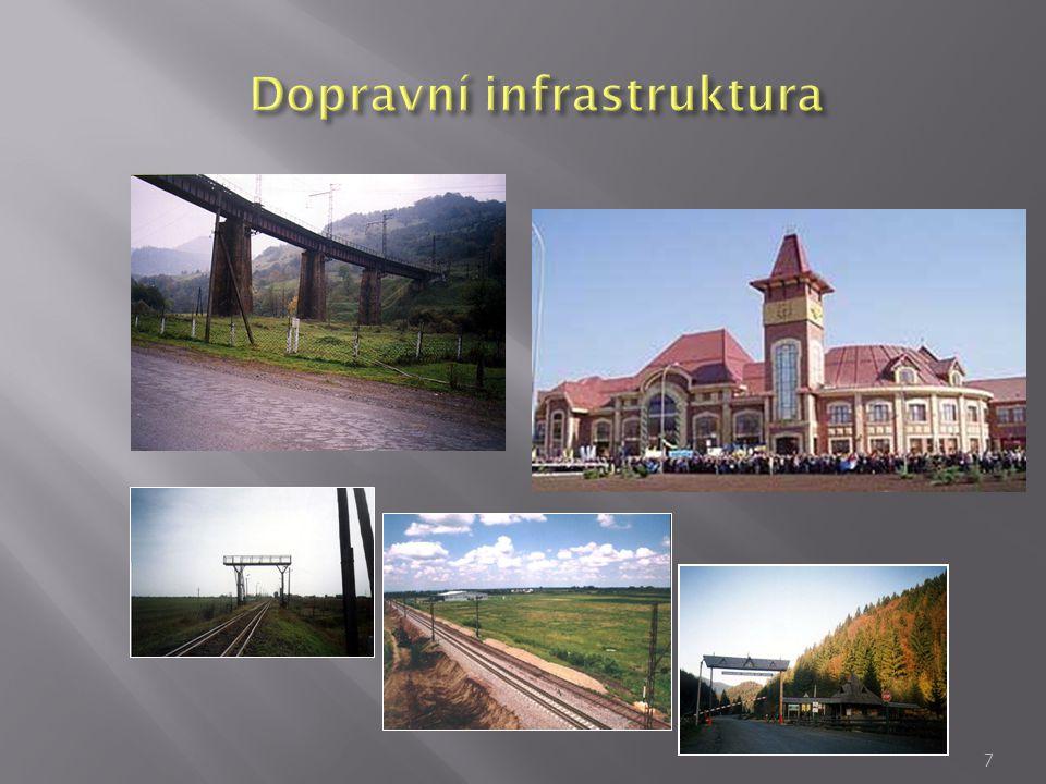  Cesty  Dobře spojení se Ľvovom a Kyjevom  Krátká cesta do Slovenska, Mad'arska, Polska a Rumunska  90 km do Košíc (SR)  180 km do К rosno (PL)  300 km do Budapešti (HU)  120 km do Satu - Mare (Rumunsko)  Železnice  Hlavní stanice se nacházejí v Čope a Užhorode; Jsou dostupné evrópská a ruská (široká) železniční trať 8