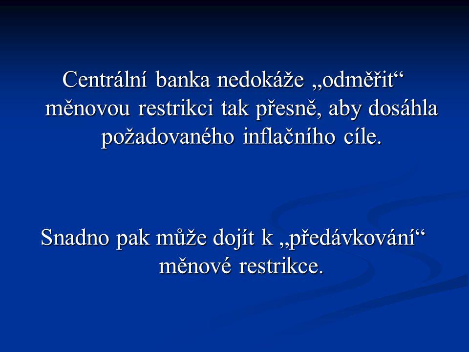 """Centrální banka nedokáže """"odměřit měnovou restrikci tak přesně, aby dosáhla požadovaného inflačního cíle."""