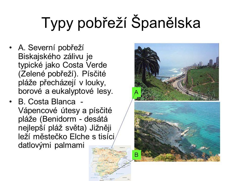 Typy pobřeží Španělska A.