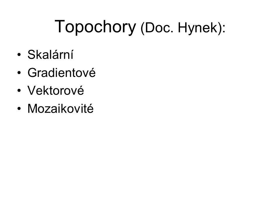 Topochory (Doc. Hynek): Skalární Gradientové Vektorové Mozaikovité