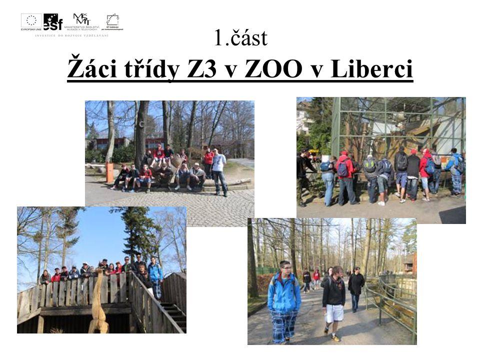 1.část Žáci třídy Z3 v ZOO v Liberci