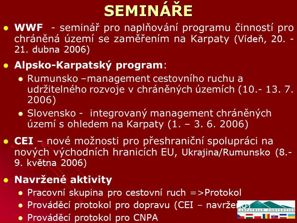 SEMINÁŘE WWF - seminář pro naplňování programu činností pro chráněná území se zaměřením na Karpaty (Vídeň, 20.