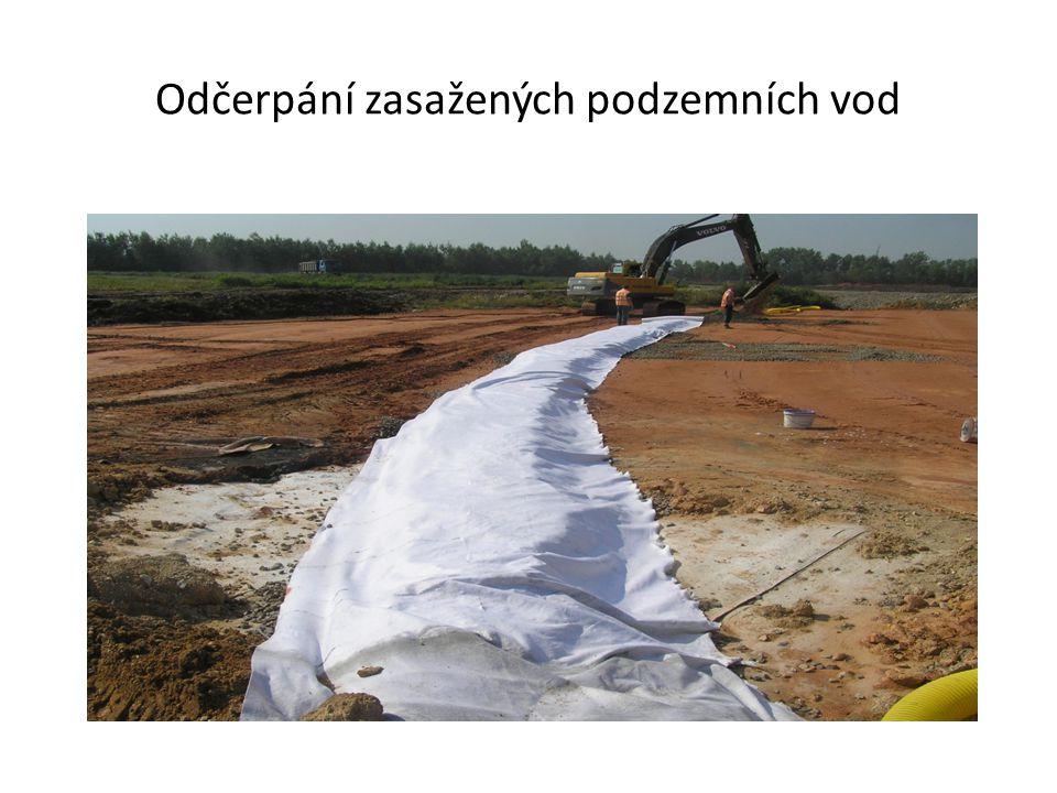 Překrytí zeminou pro budoucí ozelenění
